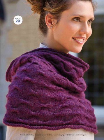 SIZED TO From Creative Knitting magazine, January 2012 Vol 34 ...
