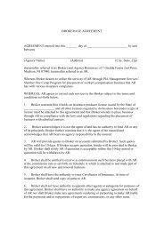 brokerage agreement - Professional Insurance Agents