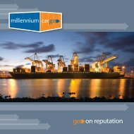 2012 Millennium Cargo Brochure - Cargo shipping from UK