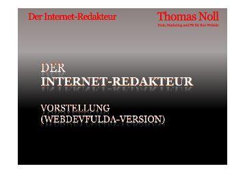 Der Internet Redakteur - webdevFulda