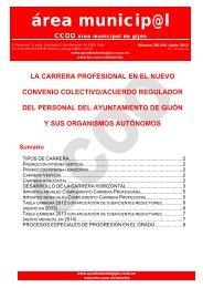 Revista Área Municipal de Gijón - Carrera profesional . nº6 ... - CCOO