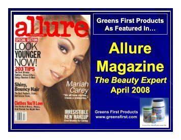 All Allure M i M i Magazine - Greens First