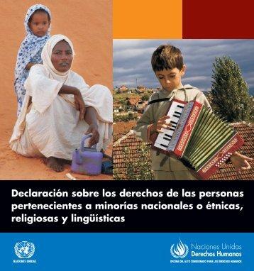 Declaración sobre los derechos de las personas pertenecientes a ...