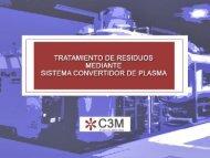 tratamiento de residuos mediante sistema convertidor de plasma