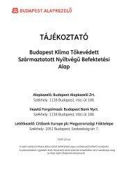 TÁJÉKOZTATÓ - Budapest Bank