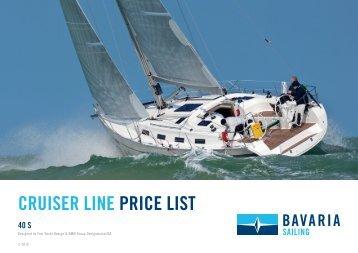 cruiser line price list 40 s