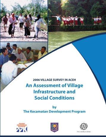 2006 village survey in Aceh - World Bank Internet Error Page ...