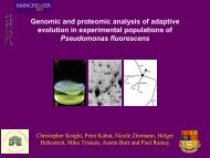Genomic and proteomic analysis of adaptive evolution in ...