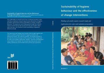 Sustainability of hygiene behaviour and the effectiveness of ...