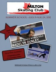 Summer School 2012 - Milton Skating Club