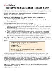 Net2Phone/SunRocket Rebate Form