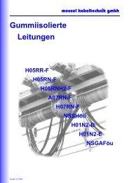 Gummiisolierte Leitungen - Meusel Kabeltechnik GmbH