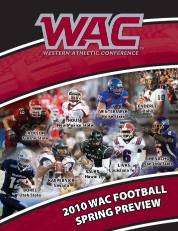 2010 wac football spring preview - Western Athletic Conference
