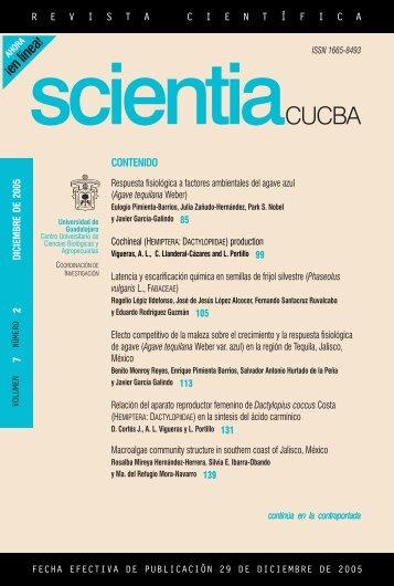 contenido - Centro Universitario de Ciencias Biológicas y ...