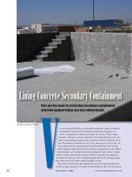 Lining Concrete Secondary Containment - PaintSquare