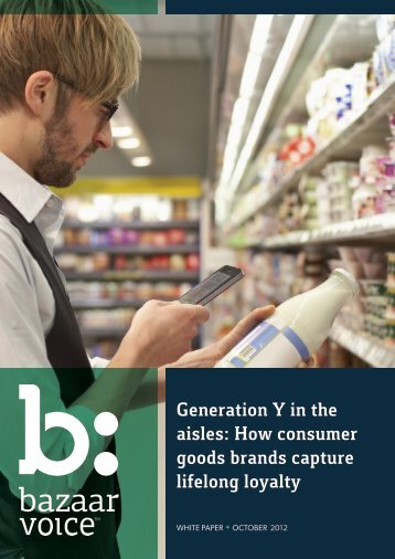 Generation Y in the aisles: How consumer goods ... - Knowledge Bank
