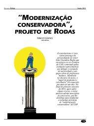 """""""MODERNIzAÇÃO CONSERvADORA"""", PROjETO DE RODAS - Adusp"""