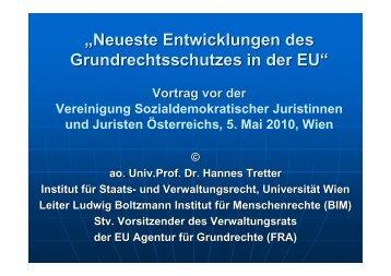 Vortrag Neue Entwicklungen im Grundrechtsschutz der EU - Ludwig ...