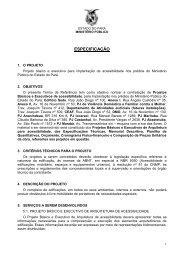 Caderno de Especificações e Normas Técnicas - Acessibilidade