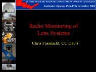 Radio Monitoring of Lens Systems