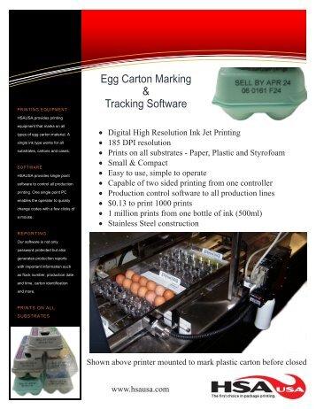 HSAUSA Egg Carton Marking
