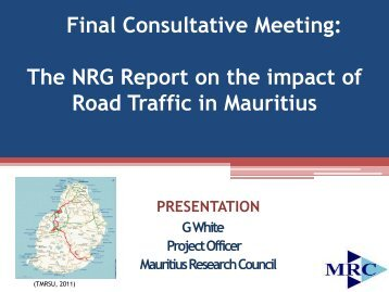 Presentation by the National Research Group on Road Traffic