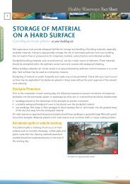 Fact Sheet 7 Storage of Material on a Hard Surface - Water by Design