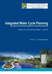 Integrated Water Cycle Planning: Comparing ... - Water by Design