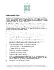 Euthanasia Protocol - AVMA PLIT