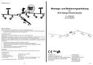 Montage- und Bedienungsanleitung - Hellweg