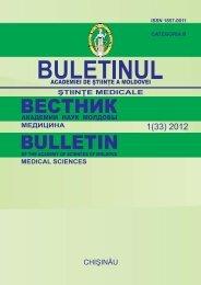 stiinte med 1 2012.indd - Academia de Ştiinţe a Moldovei