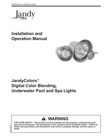 Jandy AquaLink RS PDA Installation Manual