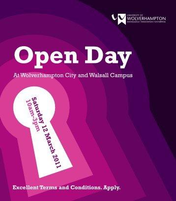 Saturday 12 March 2011 10am-3pm - University of Wolverhampton
