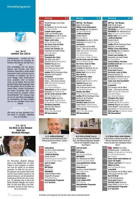 Heutiges Fernsehprogramm