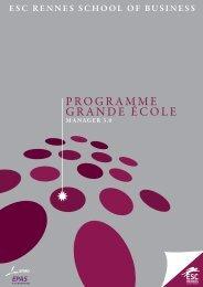 PROGRAMME GRANDE ÉCOLE - ESC Rennes Alumni