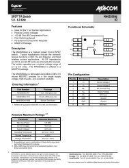 SPDT T/R Switch 5.0 - 6.0 GHz MA0S506AJ V2 - Richardson RFPD