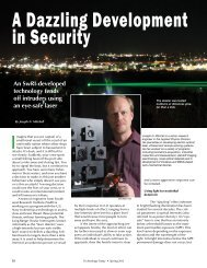 A Dazzling Development in Security - Southwest Research Institute