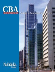 College of Business Administration - UNO CBA