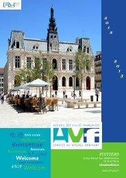 Plaquette de présentation de l'AVF Poitiers - ToutPoitiers