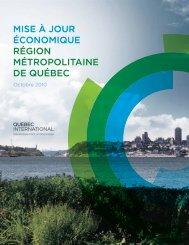Mise à jour économique Région métropolitaine de Québec