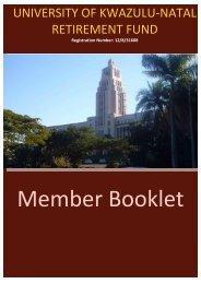 Member Booklet - UKZN Retirement Fund - University of KwaZulu ...
