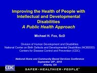 Improving the Health of People with Intellectual and Developmental ...