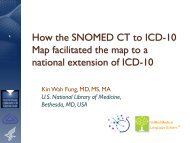 How the SNOMED CT to ICD-10 Map facilitated the map to a ... - ihtsdo