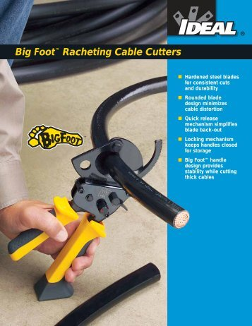 Big Foot™ Racheting Cable Cutters - ThomasNet