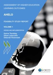 AHELO Feasibility Study Report, Volume 1 - December 22 ... - SHEEO