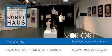 Einladung VOR ORT - Ausstellung
