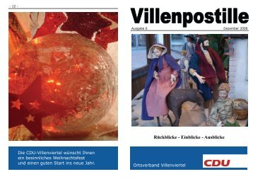Villenpostille Ausgabe 6 - CDU-Kreisverband Bonn