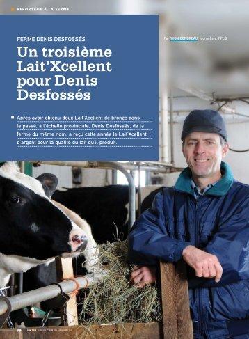 Un troisième Lait'Xcellent pour Denis Desfossés - Fédération des ...