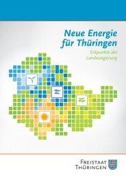 Neue Energie für Thüringen - Eckpunkte der Landesregierung