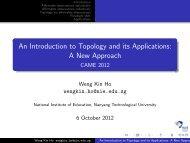 Topology and its applications. - NIE Mathematics & Mathematics ...